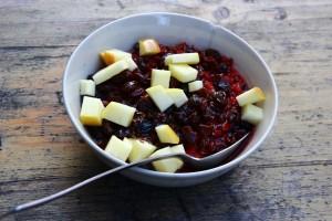Beetroot-ginger porridge